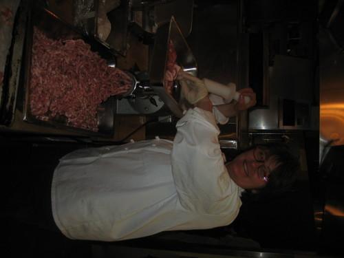 Tamara Grinding Meat
